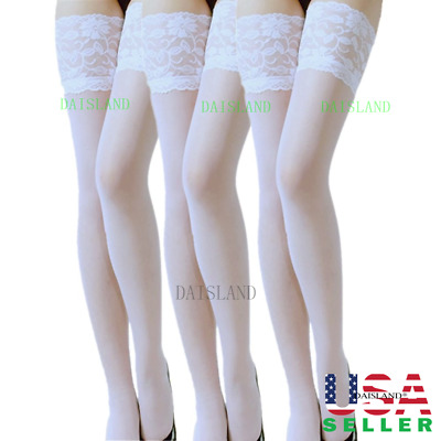 New Lace Women Stockings Sheer Pantyhose Plus Size Socks Tights Nylon Hold Up