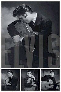 ELVIS PRESLEY ~ Guitar Collage 24x36 MUSIC POSTER The King Rock N Roll NEW!