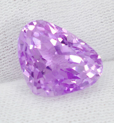 GIA Véritable Kunzite 13,60 ct. + Certificat d'Authenticité Pear Shape Facet