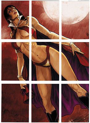 Breygent All New Vampirella 2012 Puzzle Complete 9 Card Chase Set V2-P1 - V2-P9