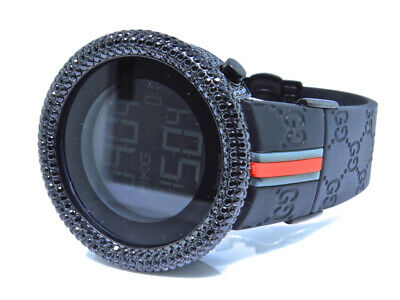Mens Techno Art Joe Rodeo Bling Master Simulated Black Diamond Designer Watch