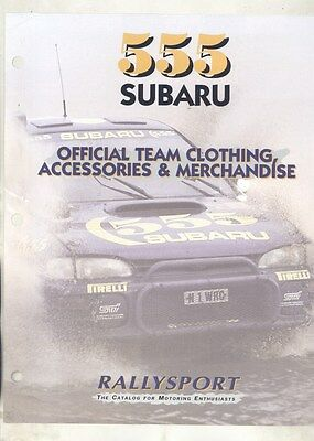 1995 1996 Subaru 555 World Team Clothing Accessories Merchandise Brochure ww2908