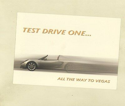 2006 Lotus Elise Robert Sinskey Vineyard Napa Bellagio Las Vegas Brochure ww2952