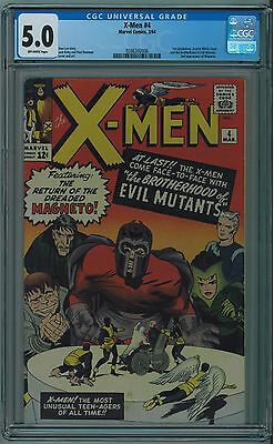 X-Men #4 Cgc 5.0 1St Scarlet Witch & Quicksilver Off-White Pgs Silver Age