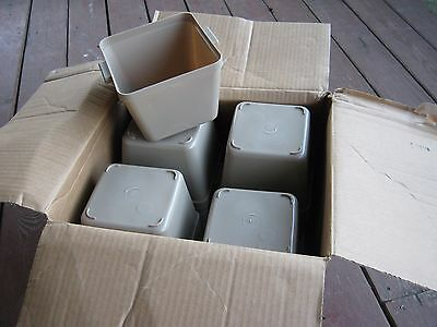 36 pcs Unused Wescon Motel Hotel Room Supplies Beige Ice Bucket