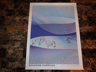 Smashing Pumpkins Rare Band Signed Oceania Tour Poster Lithograph Billy Corgan