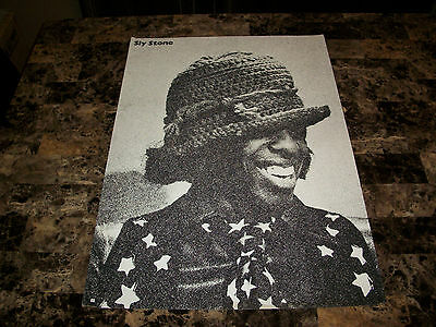 Sly and the Family Stone Rare Original Vintage 1971 Promo Poster Cloumbia REAL !