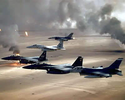 Usaf Fighter Jets In Operation Desert Storm 8X10 Photo