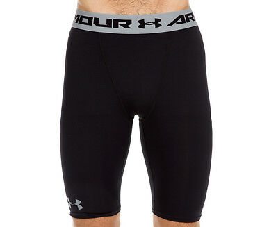 Under Armour Men's HeatGear Compression Long Shorts - Black