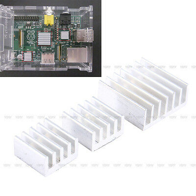3Pcs Aluminum Heatsink Cooler CPU Cooling Adhesive Tool Kit Set For Raspberry Pi