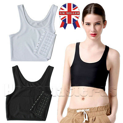 UK Trans Lesbian Tomboy Strengthen Flat Chest Breast Binder Short Cosplay Vest