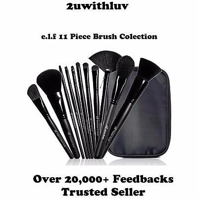Elf 11 Piece Makeup Brush Set Collection & Brush Bag Great Gift *free Express!*