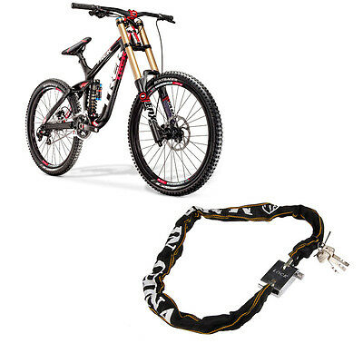 Heavy Duty Motorcycle Bicycle Bike Scooter Chain Pad Lock 3 keys High Security