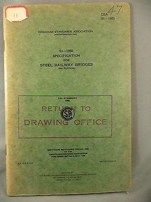 S1-1950 Specification for Steel Railway Bridges Board Of Transport CSA Book
