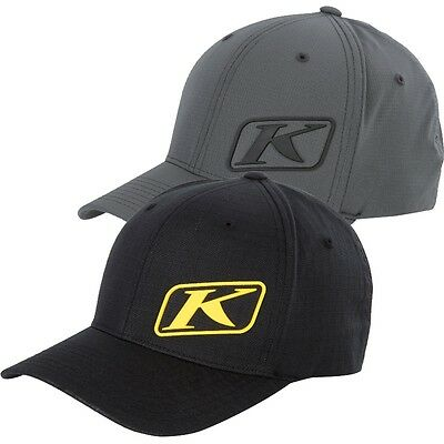 Klim Adult K Corp Fitted Flex Fit Baseball Cap Hat Black Gray - 3330-006-1_0-_00