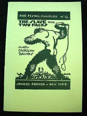 The Flying Stage Plays #6 Slave With Two Faces by Mary Davies 1918  Theater