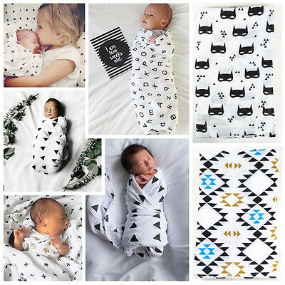 Newborn Baby Infant Muslin Blanket Cotton Swaddle Baby Wrap Towel Nursery