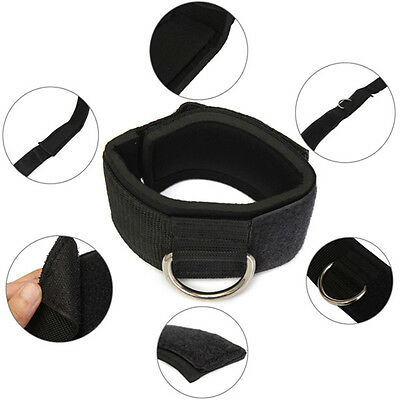 1Pc Practical D-ring Ankle Anchor Strap Belt Leg Strength Training Gym Tools