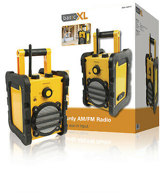HEAVY DUTY Water Resistant Portable FM AM RADIO Construction Site Strong Tools