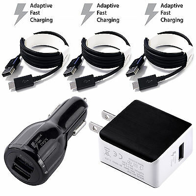 OEM Adaptive Rapid Fast Charger for Samsung Galaxy Note 4 5 S6 EDGE + 5ft Cables
