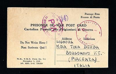 13101-AFRICA-POW.PRISONER CENSOR CONCENTRATION Camp ALGERIA.1944.WWII.Info ITALY