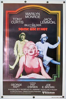 Some Like It Hot - original movie poster  D/S 27x41 1980 Rerelease Rolled