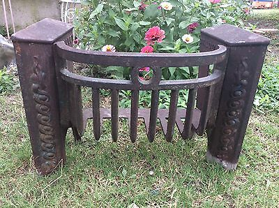G.F. Filley Cast Iron Fireplace Skirt Fender Gate Vent antique vintage tool
