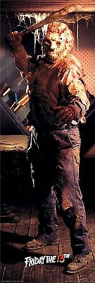 FRIDAY THE 13TH ~ JASON VOORHEES DOOR 21x62 MOVIE POSTER Horror Icon Machete
