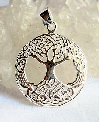 Lightweight 925 Sterling Silver Celtic Tree of Life Pendant~Wicca~Reiki~Pagan
