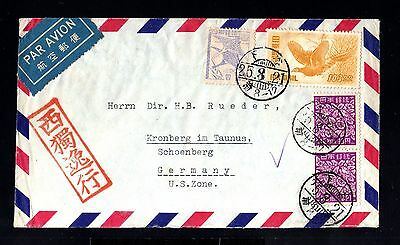 12913-JAPAN-AIRMAIL COVER TOKYO to SCHOENBERG (germany)1950.Aereo japon.Envelopp