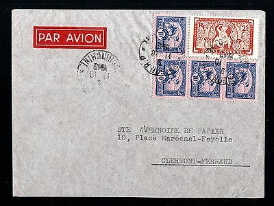 13112-INDOCHINA-AIRMAIL COVER SAIGON to CLERMONT (france)1949.French.INDOCHINE.
