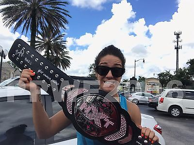 Nxt Wwe Bayley Hand Signed Womens Championship Replica Belt With Pic Proof Coa