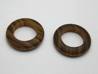 20 Natural Pattern Pine Wood Ring Beads 29mm Wooden Beads