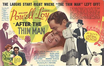 * AFTER THE THIN MAN (1936) Movie Herald Willia Powell, Myrna Loy & Asta the Dog