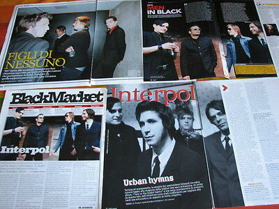 Interpol 13 Italian Magazine Clippings Articles