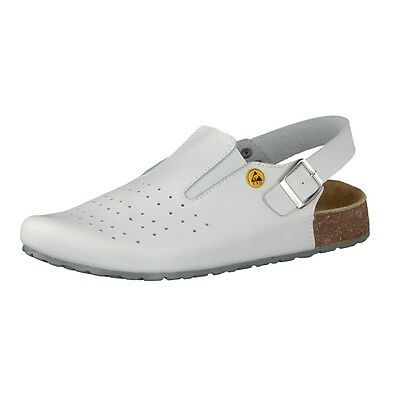 Best Medical Damen ESD Tieffußbett-Clogs weiss
