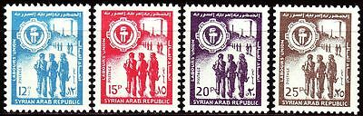 Syrien Syria 1966 ** Mi.925/28 Arbeiterpartei Labour Party