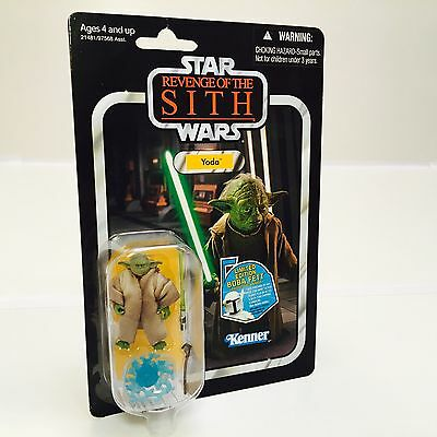 New On Card Star Wars Yoda 2011 Revenge Of The Sith Hasbro VC20
