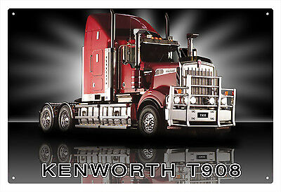 KENWORTH TRUCK T908 TIN SIGN 20 X 30 cm.  KENWORTH T908 TIN SIGN 20X30 cm  small
