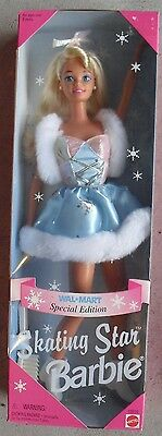 Skating Star Barbie Walmart Special Edition 1995 NEW IN BOX