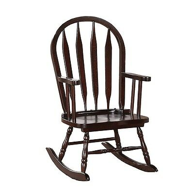Kid's Sized Cappuccino Arrow Back Rocking Chair