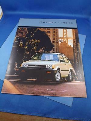 1986 Toyota Tercel Car Sales Brochure Features Specifications