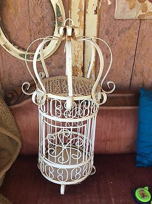 Vintage birdcage hanging scrolled Bird Cage Wrought Iron Gothic