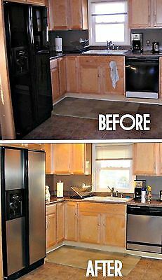 "Instant Faux Stainless™ Film Update Dishwasher Panel 36"" W x 72"" L"