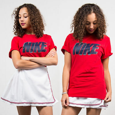 Vintage 90's Nike T-Shirt Womens Crew Neck Oversize Fit Short Sleeve Casual 8 10