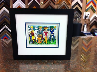 """James Rizzi 3-D """" Fabulous Foursome """" Signed & Numbered 1990 Framed"""