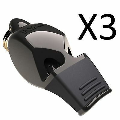 Fox 40 Official Classic Eclipse Referee Whistle Sports Safety Alert (3-Pack)