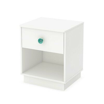 South Shore Little Monsters 1-Drawer Night Stand, Pure White