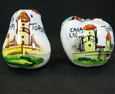 Casa Loma Toronto Souvenir Apple Salt Pear Pepper Shakers Made in Italy