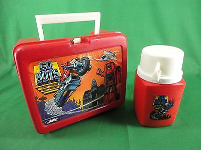 1984 Go Bots Plastic Lunchbox & Thermos